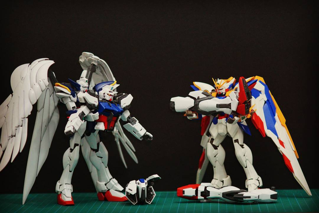 1/100 MG Wing Gundam, 1/100 MG Wing Zero Gundam, 1/100 MG Strike